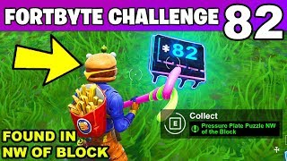 FORTBYTE #82 - Pressure Plate Puzzle NW of the Block LOCATION Fortnite Fortbyte 82 Challenge