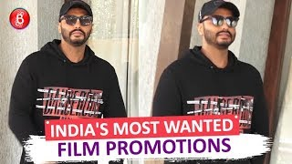 Arjun Kapoor SPOTTED At Promotions Of Indias Most Wanted' Film.