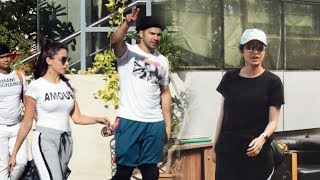Street Dancer Star Cast Varun Shraddha & Nora Spotted For Dance Rehearsal At House Of Dance Versova