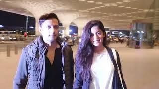 Vatsal Sheth wife Ishita Dutta Spotted at Airport