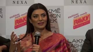 Sushmita Sen at Lakme Fashion Show 2018