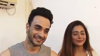 Hot Song Shoot of Sara Khan  Angad Hasija