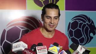 Arjun Rampal Gabriella Demetriades at Inuaguration of Roots Premier League fall 2018 kick offv