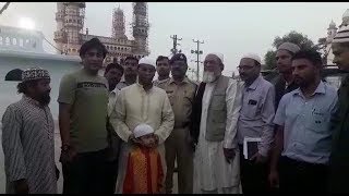 AK Khan Visits Macca Masjid To See The Work Going On In Masjid |@ SACH NEWS |