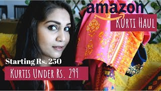 ₹299 Amazon Kurti Haul + Review | Amazon Kurti Haul 2019 | Nidhi Katiyar