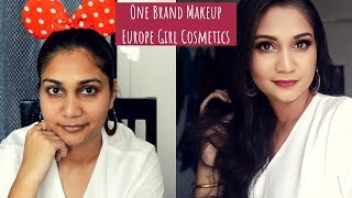 Europe Girl One Brand + Mini Reviews | Classic Gold & Red Smoky Eye Dewy Makeup |  Nidhi Katiyar