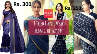 Club Factory Kurta, Sarees, Tops & Dresses | Club Factory Clothing Haul | Sarees & Kurti