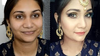 Glam & Flawless Eid Makeup 2019 Using Affordable Makeup | Gold Smokey Eyes Makeup Under Rs. 500