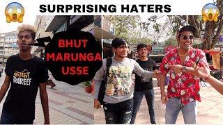 Surprising Haters   Gali Dete Hue Pakad Liya *REACTION*