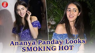 Ananya Panday Looks SMOKING HOT As She Walks Out Of A Restaurant