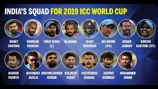 India's Squad For 2019 ICC World Cup | D Karthik, Vijay Shankar included, Pant out | Satya Bhanja