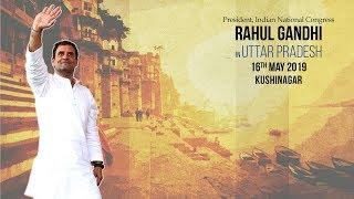 LIVE: Congress President Rahul Gandhi addresses public meeting in Kushinagar, Uttar Pradesh