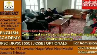 Tehsil lagal service committee Karnah organize awareness camp at Dak Banglow Tangdar