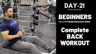 Complete BACK WORKOUT for Beginners! Day-21 (Hindi / Punjabi)
