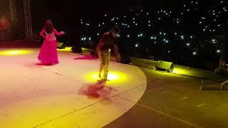 Nisha Dubey . Arvind Akela Kallu - Live Performance At Doha Qatar  - Live Dance 2018