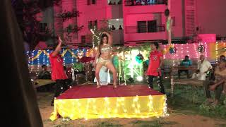 Nisha Dubey - Live Song Shooting Of Bhojpuri Film