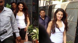 Jacqueline Fernandez Spotted At Mukesh Chabbra Office Juhu