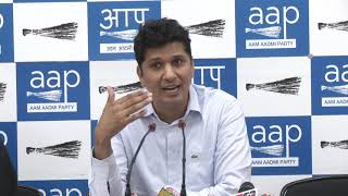 AAP Chief Spokesperson Briefs Media on Issue Related to Election at South Delhi Constituency