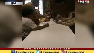 Surat: વિવેકાનંદ સોસાયટીમાં ડિમોલીશનની કામગીરી હાથ ધરવા મુદ્દે ધારાસભ્યની ઓફિસ બહાર વિરોધ