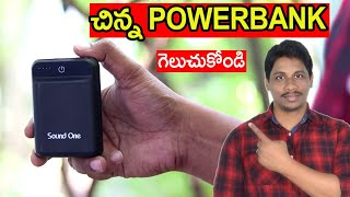 Sound one power bank unboxing and giveaway telugu