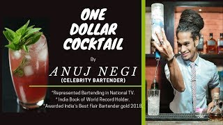 One Dollar Cocktail with ANUJ NEGI | Watermelon & Basil Mojito | Dada Bartender | Cocktails India