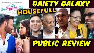 De De Pyaar De | PUBLIC REVIEW | Gaiety Galaxy Theatre | Ajay Devgn, Tabu, Rakul Preet Singh