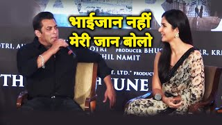 Salman Khan Tells Katrina Kaif To Call Him MERI JAAN | BHARAT | Zinda Song Launch