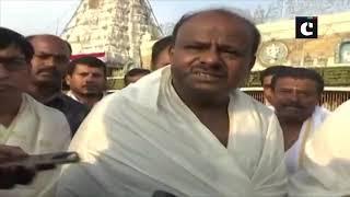 HD Deve Gowda offers prayer with family at Tirupati Balaji temple