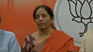 Media briefing by Smt Nirmala Sitharaman on violence in Bengal during 7th Phase of Polling