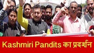 Srinagar में Kashmiri Pandits का प्रदर्शन, मांग न माने जाने पर आमरण अनशन की दी धमकी