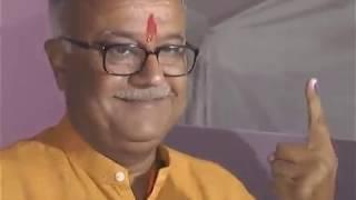 इलेक्शन 2019 LIVE: शाहपुर में नंदकुमारसिंह चौहान ने किया मतदान | Nandkumar Singh Chauhan Vote