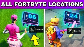 ALL FORTBYTE LOCATIONS Season 9! Fortbyte Challenges Guide (Fortnite Battle Royale)