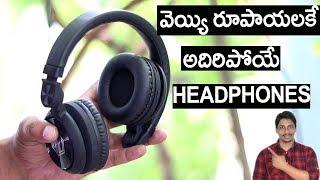 Best  X Bass Wireless Headphone under Rs:1000/- unboxing telugu