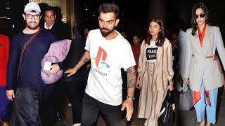 Aamir Khan Virat Kohli Anushka And Sonam Spotted At Mumbai Airport - Watch Full Video