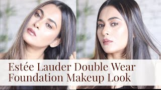 Estee Lauder Double Wear foundation Makeup Look