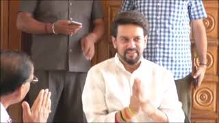 20 MAY N 2  After the Lok Sabha elections, BJP candidate Anurag Thakur tired of his home in Sameerpu