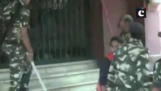 Bihar: Police & security guards baton charge on members of ABVP staging demonstration
