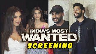 Indias Most Wanted Special Screening | Arjun Kapoor Tara Sutaria, Kriti Sanon
