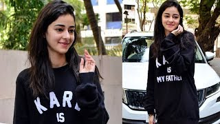 Ananya Panday Shooting For A Brand Spotted At Filmalaya Studios