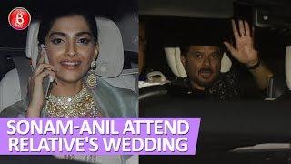 Sonam Kapoor & Anil Kapoor Spotted Attending A Relative's Haldi ceremony