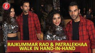 Rajkummar Rao & Patralekhaa walk in hand-in-hand for Nushrat Bharucha birthday bash