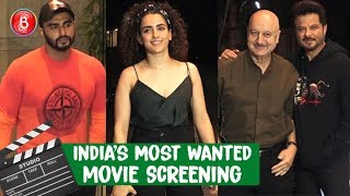 Taapsee Pannu & Abhishek Bachchan Attend Arjun Kapoors Indias Most Wanted Screening