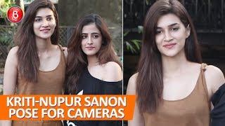 Kriti Sanon & Sister Nupur Sanon Happily Pose For The Shutterbugs
