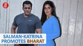 Salman Khan and Katrina Kaif Spotted At Mehboob Studios For Bharat Promotions