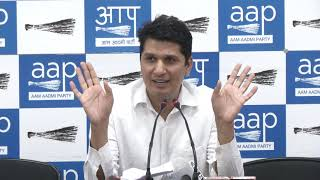 AAP Chief Spokesperson Saurabh Bhardawaj Briefs on the Cost of Advt Done by Shiela Dixit