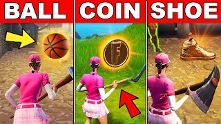 Collect a BASKETBALL, COIN, and SHOE in a Single Match - (Downtown Drop Challenge) Fortnite