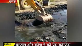 सुमेरपुर मे नगरपालिका ने नालो की सफाई की शुरू, आगामी मानसून को देखते हुऐ की जा रही है सफाई