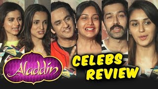 Aladdin Movie Celebs Review | Screening | Will Smith Naomi Scott, Mena Massoud