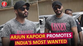 Arjun Kapoor PROMOTES Indias Most Wanted Film