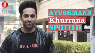 Ayushmann Khurrana Spotted Promoting His Film Artical Fifteen